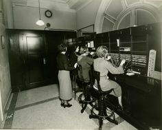 Since I know everyone pictures this when they ask me what I do and I say Switchboard....GPO's main telephone switchboard, mid-1930s