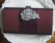 Burgundy Marsala red  clutch purse Whisper Free by ExpressiveMe