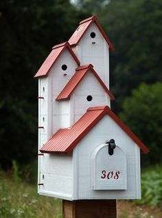 Wren Birdhouse Mailbox - Ohio Handcrafted Accents