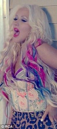 Christina Aguilera hair from clip your body