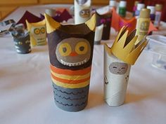 The wild things are toilet paper rolls now!