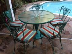 Annie Sloan Florence Chalk Paint update on vintage patio set!