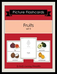 Click here to download your Fruits (set II) Picture Flashcards: https://www.teacherspayteachers.com/Product/Fruits-set-II-Picture-Flashcards-1744676: $2.5