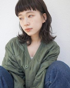 Pin on Hair Medium Hair Styles, Short Hair Styles, Dope Hairstyles, Japanese Hairstyle, Aesthetic Hair, Mullets, About Hair, Medium Long, Cut And Color