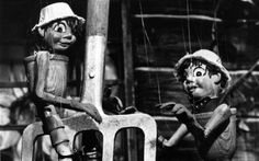 Bill and Ben, the Flowerpot Men, were first seen on BBC TV, along with Little Weed on 18 December 1952. The characters were originally part of a BBC series called Watch with Mother. The Flower Pot Men (who had clay-pot bodies and straw hats) was the story of two little men made of flower pots who lived at the bottom of an English suburban garden. The pair spoke in gibberish known as 'flobbadob'.