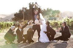Funny groomsmen photo // Santa Barbara Wedding at Firestone Winery // Christine Chang Photography. Firestone Winery, Funny Groomsmen Photos, Goofy Couples, Santa Barbara, Engagement Pictures, Some Pictures, I Fall In Love, Couple Photos, Photography