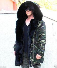 Parka Herren Pelzmantel Fuchs men fur coat fox Куртка Мужчины moro XL SALE! in Clothing, Shoes & Accessories, Mens' Clothing, Coats & Jackets   eBay
