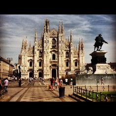 While entry to the Duomo is free, there is a small admission fee to visit the roof, where you can inspect the cathedral's many spires, statues, and gargoyles and admire tremendous views of Milan