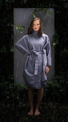 BRGN by Lunde & Gaundal, Bris Poncho, Cashmere Blue Cashmere, Raincoat, Urban, Lifestyle, How To Wear, Blue, Inspiration, Fashion, Rain Jacket