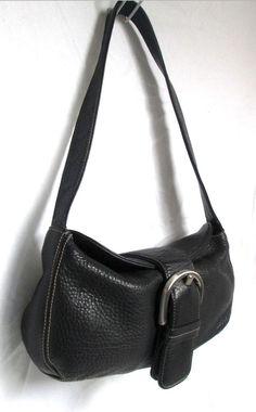 FRANCO SARTO genuine Black buttery soft pebbled Leather slouchy Hobo handbag #AuthenticFRANCOSARTOluxurydesigner #ShoulderbaghoboFlapsatchelretrobucklepurse