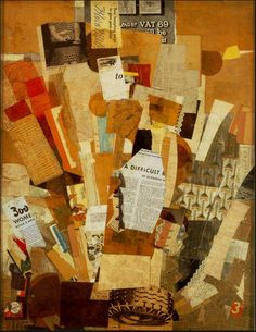 Kurt Schwitter was a member of the Berlin Dada Movmement and created collages with media clippings.
