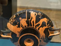"Attic kylix BC), Craftsmen by ""The Foundry Painter"" - Berlin Greek Antiquity, Ancient Greek Sculpture, Two Heads, Greek Pottery, Greek Gods, Pretty Art, Bearded Men, Romans, Craftsman"