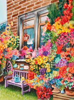 Pollenallergi Gouache, My World, Cute, Painting, Animals, Kunst, Animales, Animaux, Kawaii