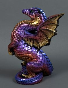 "Windstone ""Shimmering Embers 1"" Rising Spectral Dragon Figurine Fantasy Statue | eBay #ebay #dragon #fantasyart"