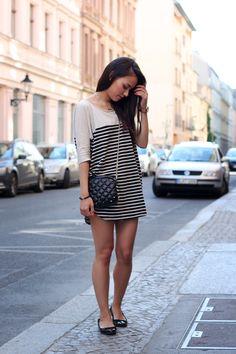 t e e t h a r e j a d e - outfit: striped dress <3