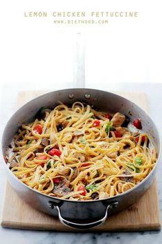Lemon Chicken Fettuccine Sauce - healthy pasta dinner recipe