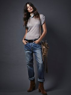 Free People Uptown Slim Straight Jeans at Free People Clothing Boutique