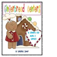 Gingerbread Centers {Aligned with Common Core} by Deanna Jump - These 6 math and literacy centers are fun and engaging for your little sweeties.  Just print, cut and laminate.  The skills covered are:  addition to 11, patterns, skip counting,   cvc words, real and nonsense words, initial sounds.   Visit my blog for more ideas and activities.