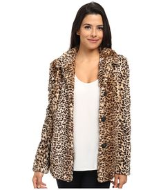 Sam Edelman Leopard Faux Fur Coat