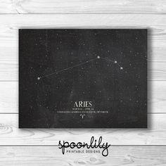 ARIES Zodiac Constellation for tattoo idea