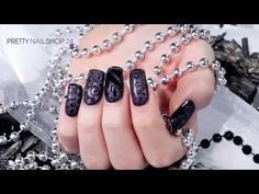 Trendstyle: Nailart schwarz mit Glitzer - YouTube