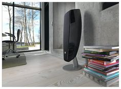 DALI (Danish Audiophile Loudspeaker Industries) machines the F5 speakers from a seamless block of aluminum. The curvaceous speaker features an absence of parallel surfaces in order to keep to a minimum any cabinet resonance.