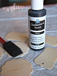 chalkboard gift tags so you can re use
