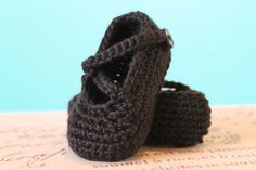 Crochet Baby Booties Custom Options Available by livinginivory
