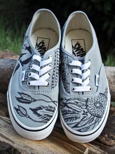 I. NEED. THESE. Dreamcatcher vans @ etsy.com