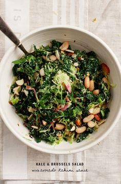 Kale Salad with Avocado Tahini Sauce
