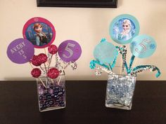 Disney Frozen birthday decorations... DIY