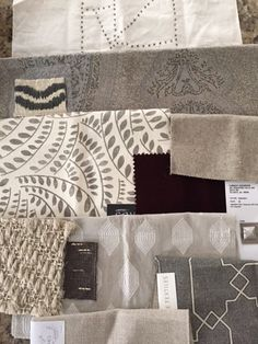 design indulgence- Interesting to see a designer choosing fabric for a project.