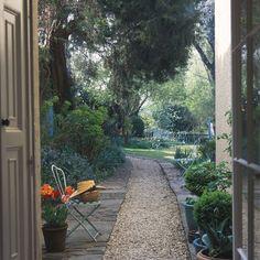 Gravel garden path.