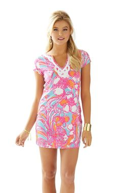 Brewster T-Shirt Dress - Lilly Pulitzer Shorely Blue Feeling Tanked