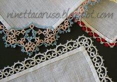 Chiacchierino facilissimo: 100 posts! - WIP and attach tatting to fabric
