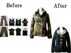 Jackets before&after