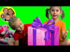 Christmas Presents for Kids. Opening a package from the USA