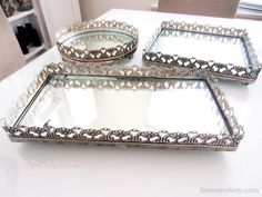 Decorating with Mirrored Vanity Trays | Homey Oh My! | How Do It Info