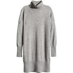 H&M Cashmere jumper (165 AUD) ❤ liked on Polyvore featuring tops, sweaters, dresses, h&m, grey marl, turtle neck sweater, cashmere turtleneck sweater, cashmere sweater, grey turtleneck sweater and gray cashmere sweater