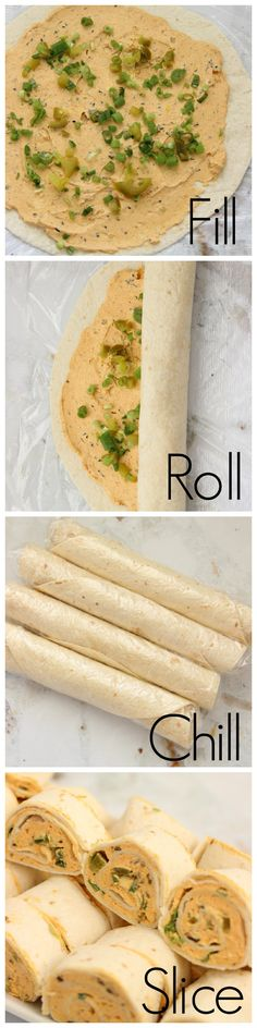 Taco Pinwheels - Easy and favorite appetizer Need to do this 21 day fix style! Easy Dinner Recipes, Appetizer Recipes, Appetizers, Lunch Recipes, Diet Recipes, Taco Pinwheels, Turkey Pinwheels, Recipe Collector, Everyday Food