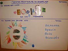 Νηπιαγωγός για πάντα....: Γλώσσα: Μαθαίνω το όνομά μου… διασκεδάζοντας Name Activities, Literacy, Names, Blog