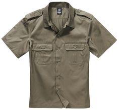 65% Polyester, 35% Baumwolle gerader Schnitt aufgesetzte Brusttaschen Schulterklappen