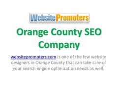 Get in touch with experts from https://websitepromoters.com if you are looking for orange county seo company help that you cannot get anywhere else.
