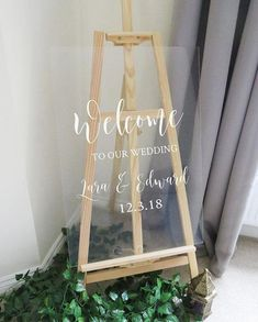 DECAL ONLY, no sign included! Make your own super easy and elegant custom Wedding Welcome sign. The vinyl is quick and simple to apply, and you will have a professional looking sign for a fraction of the cost. Apply it to wood, mirror, perspex, chalkboard - anything with a smooth