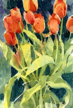 Shari Blaukopf - Saturday Tulips