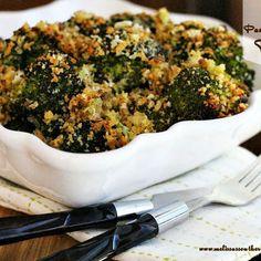 Roasted Panko-Parmesan Broccoli