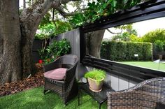 outside mirror in garden | Outdoor Areas | Pinterest