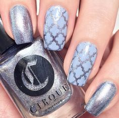 ❄This gorgeous manicure by @themermaidpolish is using our Moroccan Nail Stencils found at snailvinyls.com