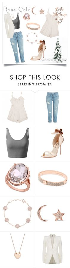 """Rose Gold"" by lenamia1904 ❤ liked on Polyvore featuring Lover, AG Adriano Goldschmied, Doublju, Sophia Webster, GUESS, Michael Kors, Thomas Sabo, Aamaya by Priyanka, Ginette NY and Alexander McQueen"
