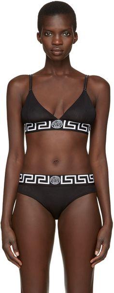 1cc8faaa0 Versace Underwear - Black Medusa Bra Versace Underwear